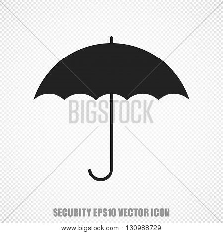 The universal vector icon on the safety theme: Black Umbrella. Modern flat design. For mobile and web design. EPS 10.