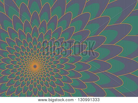 Purple and green flower Background Vector Illustration
