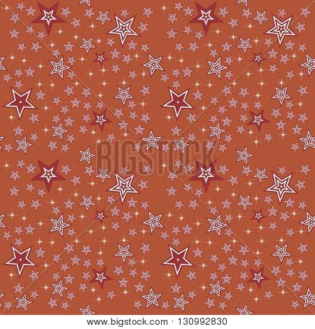 Seamless stars pattern background editable color background.