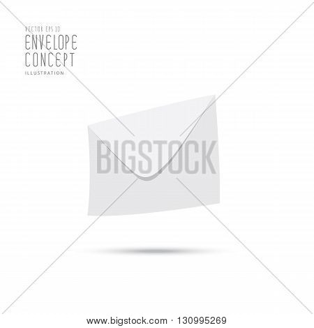 Illustration vector the envelope icon symbol simple and modern.