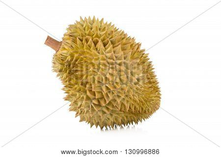 asia fruit durian, durian isolated on white background.