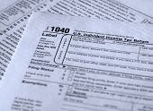 form 1040 personal income tax reporting form poster