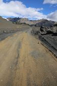 Gravel Road in Skaftafell Nationalpark. Iceland. Scandinavia poster