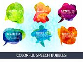 abstract colorful shiny speech bubbles vector illustration poster