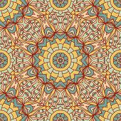 Seamless vector background with mandala. Islam Arabic Indian ottoman style. Background   textile. Design for silk neck scarf kerchief hanky pillow hanky pillow carpet rug poster