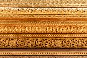 Myanmar stucco arts traditional arts and crafts in Shwe Maw Daw temple. poster