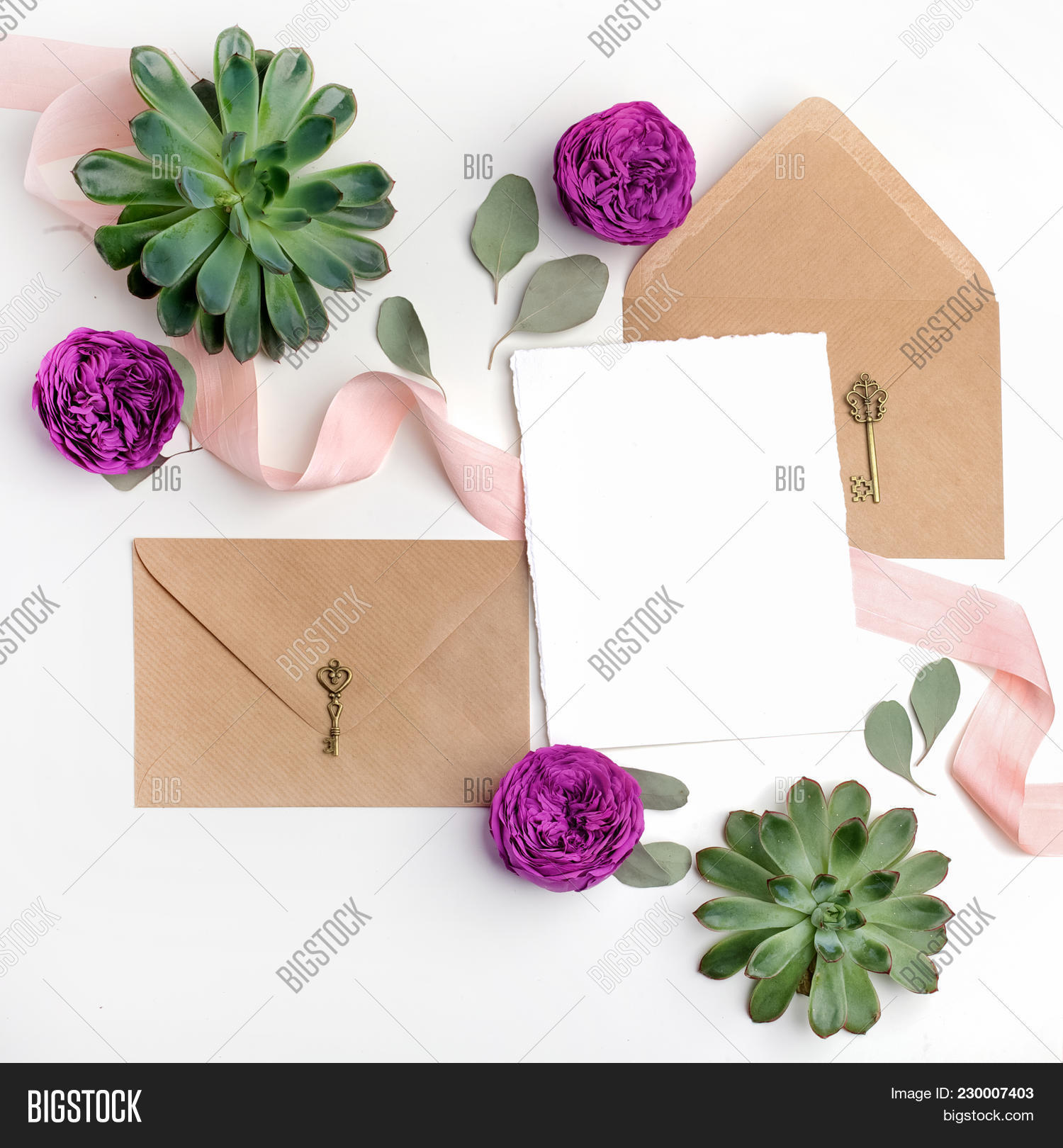 Flat Lay Shot Letter Image & Photo (Free Trial) | Bigstock