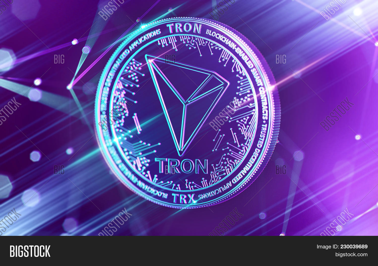 Neon Glowing Tron (trx Image & Photo (Free Trial) | Bigstock