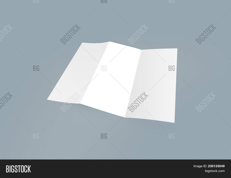 tri fold brochure mock up blank brochure white template paper on background