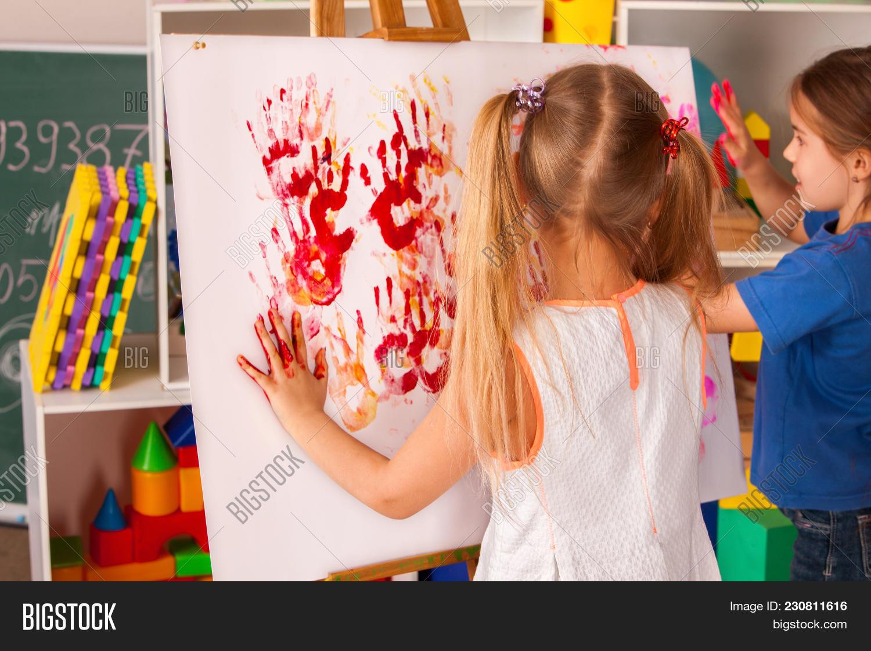 Children Painting Image & Photo (Free Trial) | Bigstock