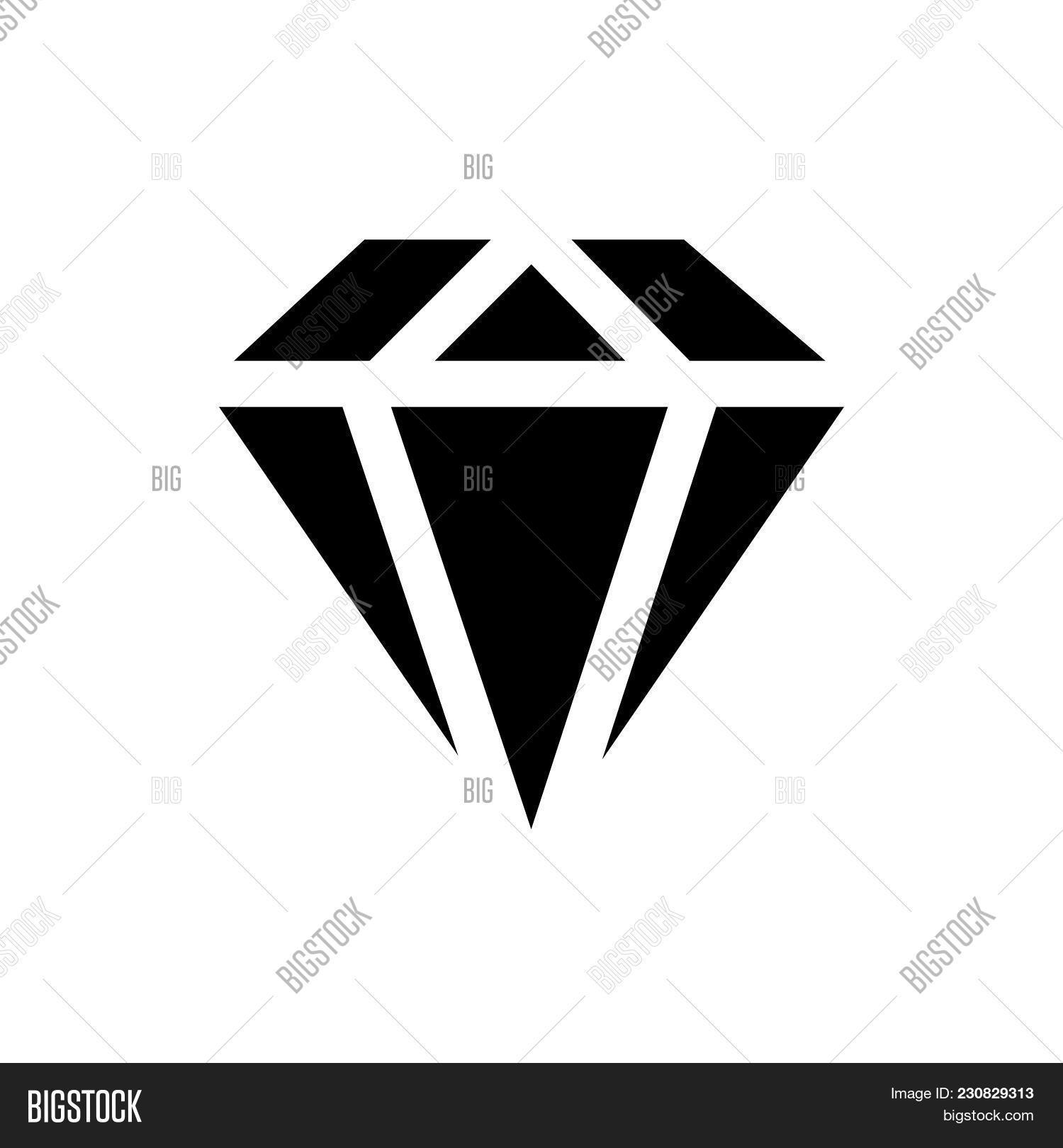 Diamond Icon Isolated Vector & Photo (Free Trial) | Bigstock
