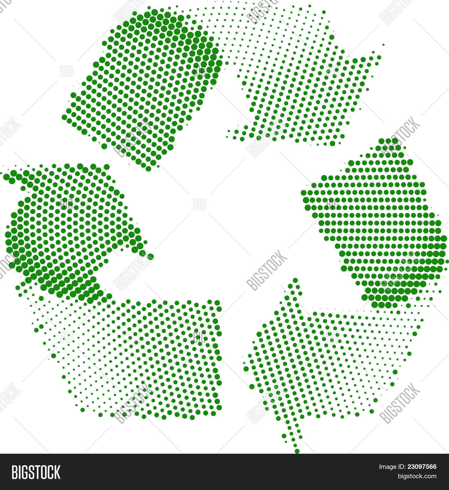 Green Recycle Symbol Vector Photo Free Trial Bigstock