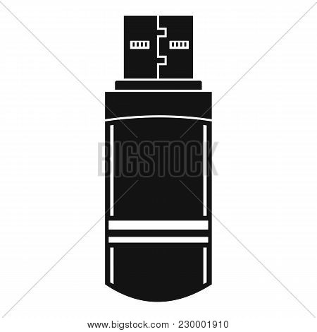 Small Flash Drive Icon. Simple Illustration Of Small Flash Drive Vector Icon For Web