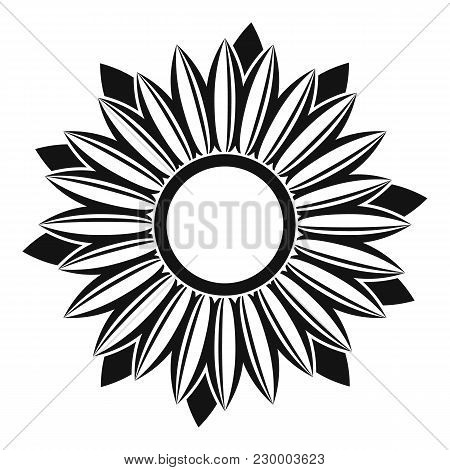 Ripe Sunflower Icon. Simple Illustration Of Ripe Sunflower Vector Icon For Web
