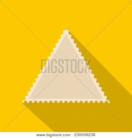 Small Postage Stamp Icon. Flat Illustration Of Small Postage Stamp Vector Icon For Web