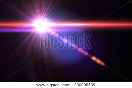 Abstract Sun Burst With Digital Lens Flare Background.abstract Digital Lens Flares Special Lighting