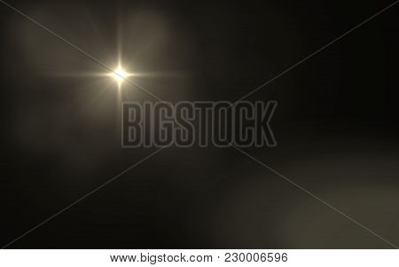 Abstract Lens Flare Dusty With Black Background.modern Abstract Beautiful Rays Light Streak Backgrou
