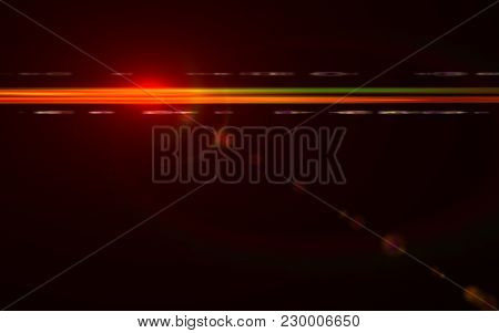 Abstract Design Natural Lens Flare In Space. Rays Background.abstract Image Of Sun Burst Lighting Fl