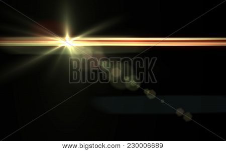 Abstract Background Lighting Flare.speed Line And Blue Sun Flare With Dust On Space Background