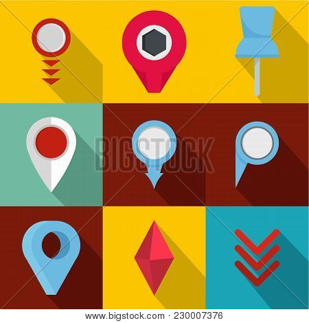 Meeting Point Icons Set. Flat Set Of 9 Meeting Point Vector Icons For Web Isolated On White Backgrou