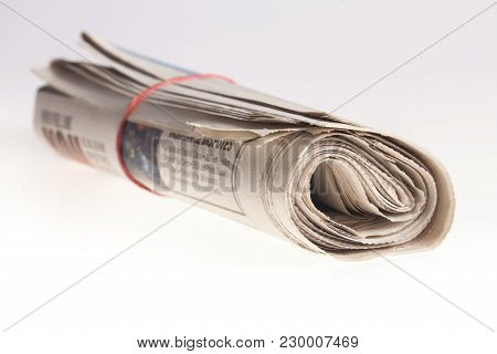 Paper Newspaper News Roll Newspapers Rolled Up Print Media