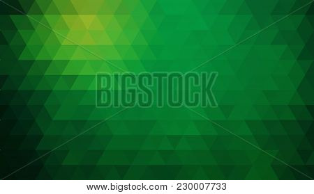 Multicolor Green, Yellow, Orange Polygonal Illustration, Which Consist Of Triangles. Geometric Backg