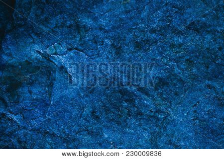 Abstract Navy Blue Texture And Background For Design. Blue Vintage Background. Rough Blue Texture Ma