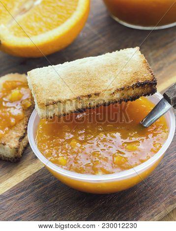 Orange Jam With Toast