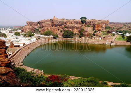 View Of The Sacred Lake In The Settlement Dietary Supplements In India