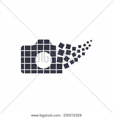 Camera Photography Logo Icon Template. Digital Camera Concept