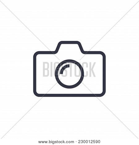 Camera Icon In Trendy Flat Style Isolated On Colorful Background. Camera Symbol For Your Web Site De