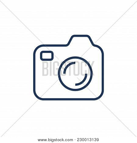 Silhouette Of The Camera. A Camera Icon For Websites, Programs, Applications, Logos, Labels And Othe