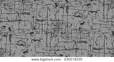 Seamless Dark Gray Background. Grunge Texture, Seamless Pattern. Abstract Vector. Layer For Creating