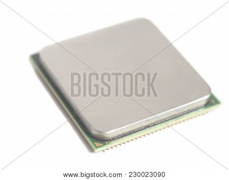 Central Processing Unit Cpu Microchip Isolated On White