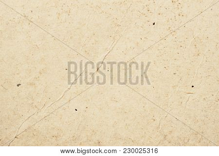 Texture Of Old Organic Light Rough Cream Paper With Wrinkles, Background For Design With Copy Space