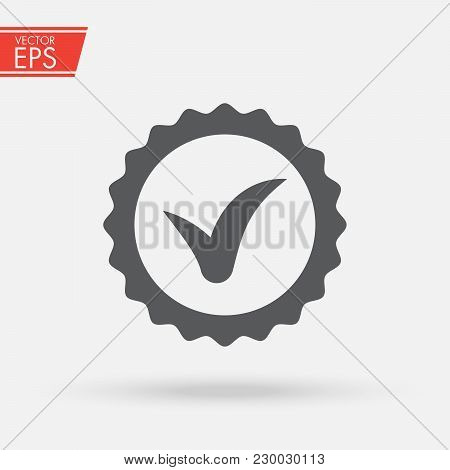 Vector Icon Quality Guarantee. Premium Quality Label Line Icon On White Background. Approved, Accept