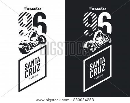 Vintage Motorcycle Black And White Isolated Vector Logo.premium Quality Biker Gang Logotype Tee-shir