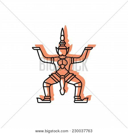 Giant Statue Icon. Doodle Illustration Of Giant Statue Vector Icon For Web And Advertising