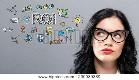 Roi With Young Businesswoman In A Thoughtful Face
