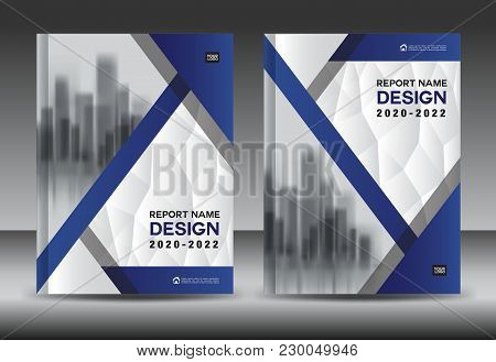 Cover Layout Template, Blue Brochure Flyer Design, Poster, Blue Leaflet Layout