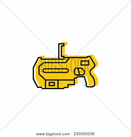 Virtual Reality Gun Icon. Doodle Illustration Of Virtual Reality Weapon Vector Icon For Web And Adve