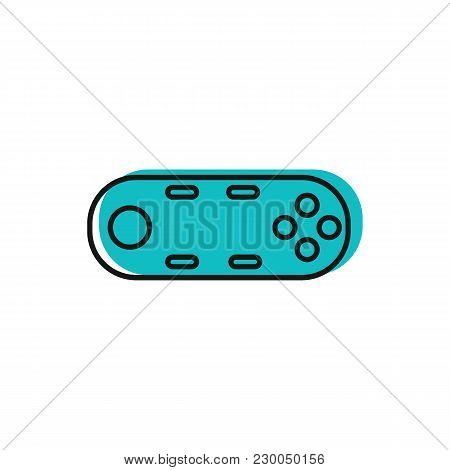 Virtual Reality Control Icon. Doodle Illustration Of Virtual Reality Remote Control Vector Icon For