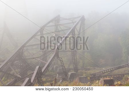 Mangled Metal Framework From The Kinzua Bridge. The Kinzua Bridge Used To Be The Tallest And Longest