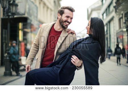 Romance in the street
