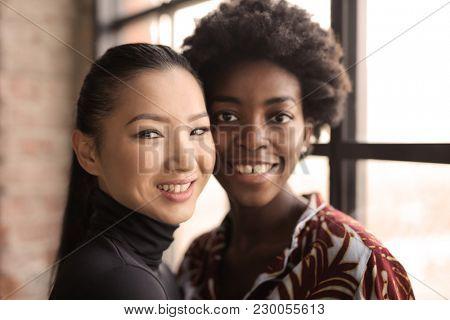 Smiling beautiful women