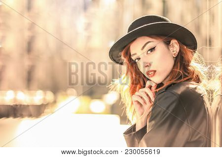 Portrait of fashionable teenager
