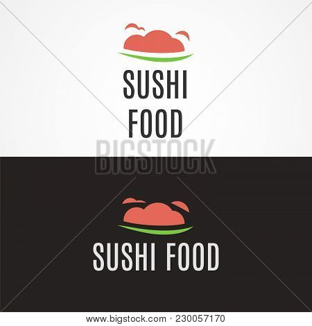 Sushi Food, Food Logo, Japanese Food Logo, Vector Logo Template. Testy Food Restaurant Silhouette. C