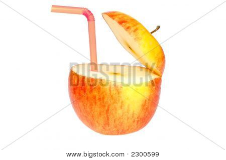 Abstract Apple Drink