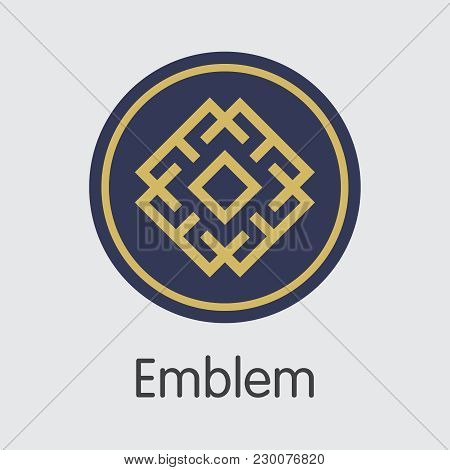 Emblem - Illustration Of Fintech Industry, Finance Digitization. Modern Sign Icon. Premium Quality S