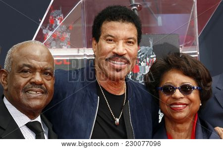 Lionel Richie and guests at Lionel Richie Hand And Footprint Ceremony held at the TCL Chinese Theatre in Hollywood, USA on March 7, 2018.